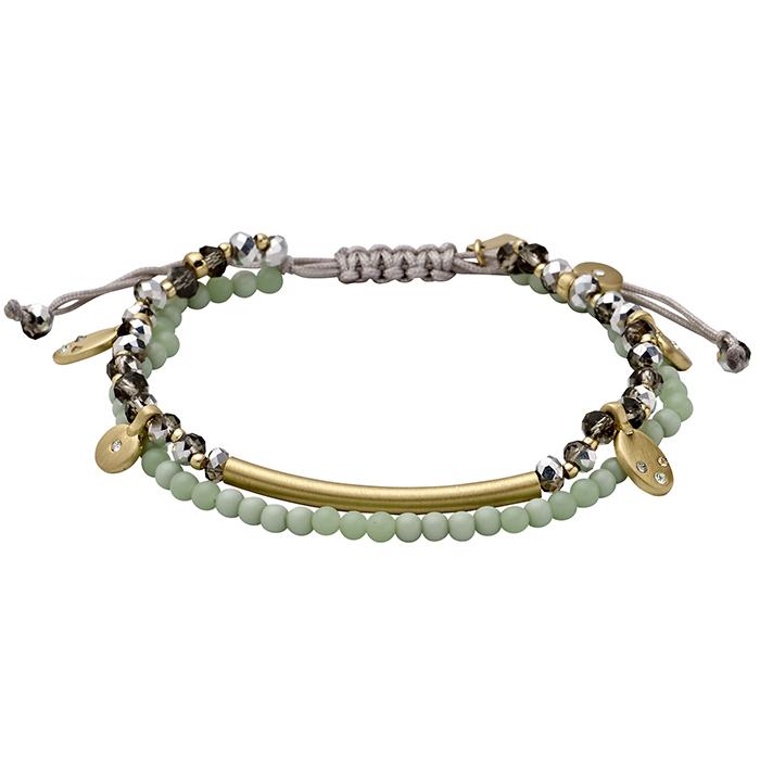 Επίχρυσο βραχιόλι με πέτρες Pilgrim 181712012 181712012 Ορείχαλκος fashion jewels pilgrim βραχιόλια   χειροπέδες