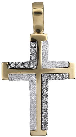 Σταυροί Βάπτισης - Αρραβώνα Γυναικείος σταυρός 14Κ 018325 018325 Γυναικείο Χρυσός 14 Καράτια