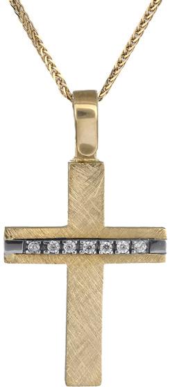 Βαπτιστικοί Σταυροί με Αλυσίδα Γυναικείος σταυρός Κ18 C018535 018535C Γυναικείο Χρυσός 18 Καράτια