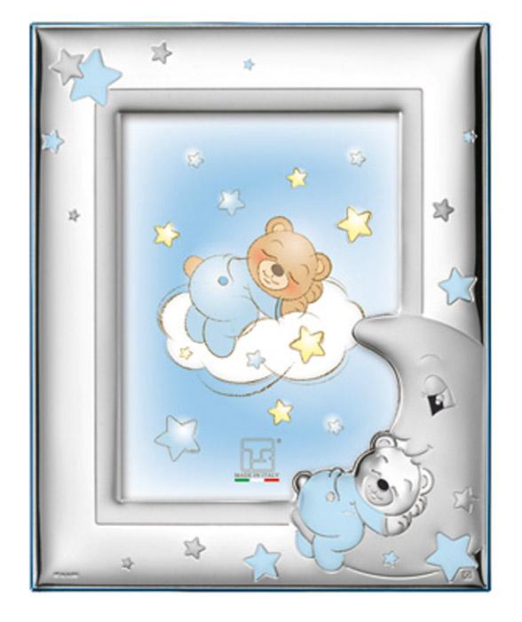 Ασημένια παιδική κορνίζα σιέλ 019678 019678 Ασήμι