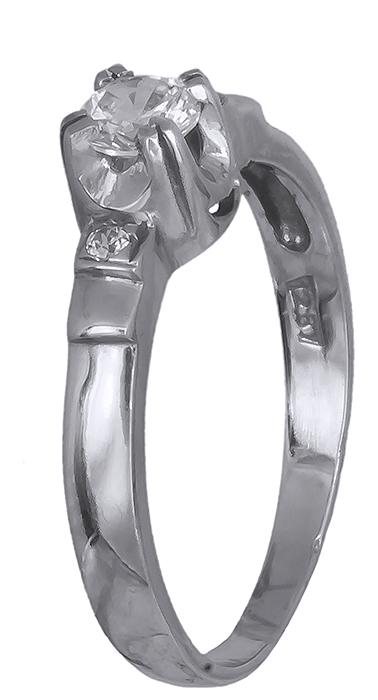 Λευκόχρυσο μονόπετρο δαχτυλίδι Κ14 001932 001932 Χρυσός 14 Καράτια