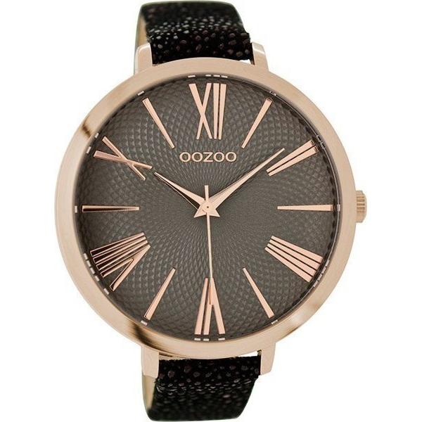 Γυναικείο ρολόι OOZOO Black leather strap C9174 C9174