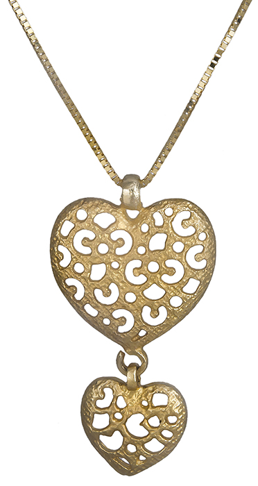 Χρυσό Κολιέ με καρδούλες 14Κ 002073 002073 Χρυσός 14 Καράτια χρυσά κοσμήματα καρδιές