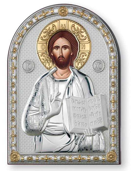Ασημένια εικόνα 925 -Χριστός Ευλογών- 019661 019661 Ασήμι προτάσεις δώρου ασημένιες εικόνες