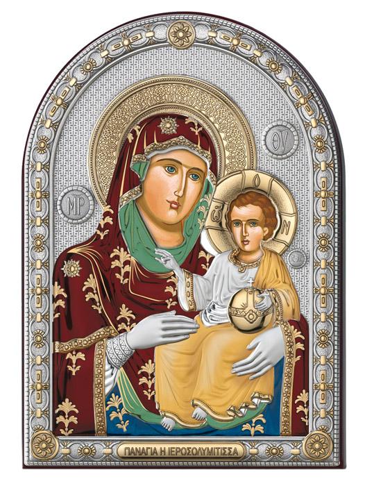Ασημένια εικόνα -Παναγία Βηθλεεμίτισσα- 019650 019650 Ασήμι προτάσεις δώρου ασημένιες εικόνες