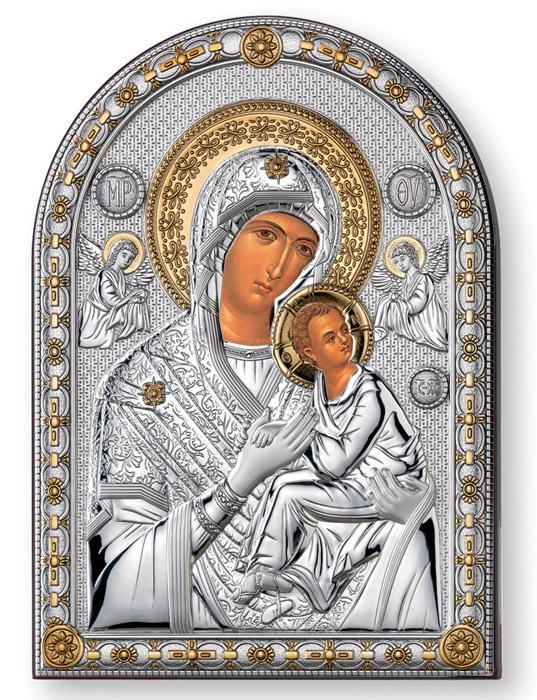 Ασημένια εικόνα -Παναγία η Οδηγήτρια- 019651 019651 Ασήμι προτάσεις δώρου ασημένιες εικόνες