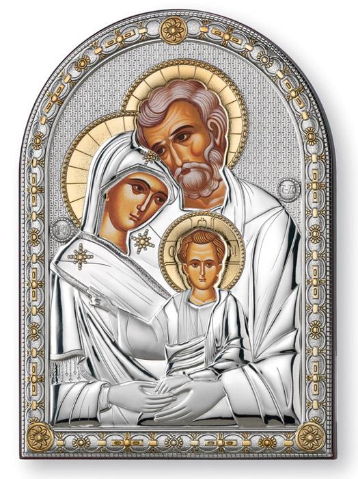 Ασημένια εικόνα 925 -Η Αγία Οικογένεια- 019659 019659 Ασήμι προτάσεις δώρου ασημένιες εικόνες