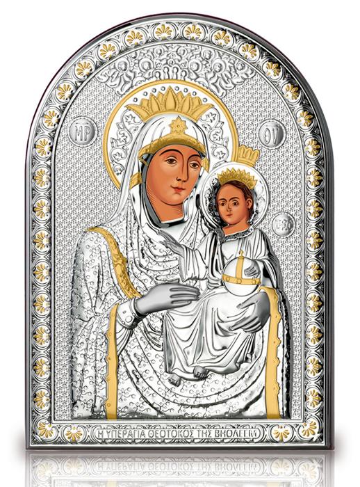 Ασημένια εικόνα Παναγία η Βηθλεεμίτισσα 019583 019583 Ασήμι προτάσεις δώρου ασημένιες εικόνες