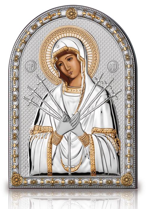 Ασημένια εικόνα Παναγία Επτάσπαθη 019586 019586 Ασήμι