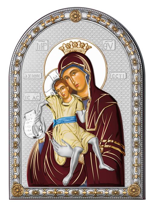 Ασημένια εικόνα με την Παναγία 019582 019582 Ασήμι προτάσεις δώρου ασημένιες εικόνες