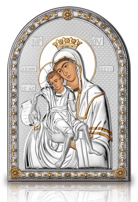 Ασημένια εικόνα Παναγία του 'ξιον Εστί 019581 019581 Ασήμι προτάσεις δώρου ασημένιες εικόνες