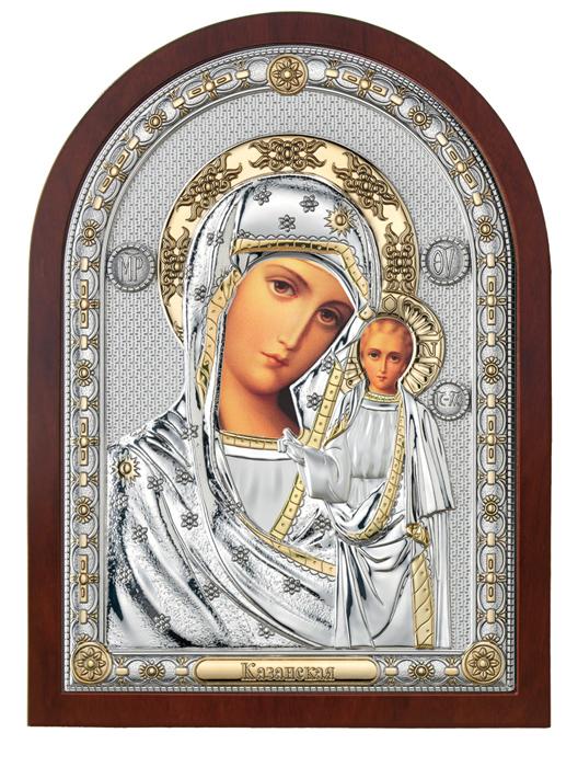 Ασημένια εικόνα της Παναγίας 019589 019589 Ασήμι προτάσεις δώρου ασημένιες εικόνες
