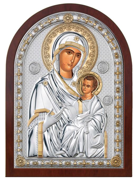 Ασημένια εικόνα τοίχου -Παναγία Πορταΐτισσα- 019655 019655 Ασήμι προτάσεις δώρου ασημένιες εικόνες