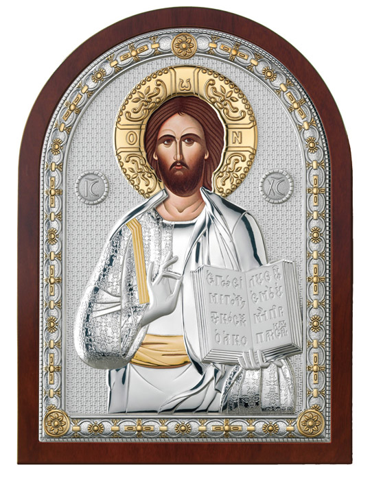 Ασημένια εικόνα -Χριστός Ευλογών- 019662 019662 Ασήμι προτάσεις δώρου ασημένιες εικόνες