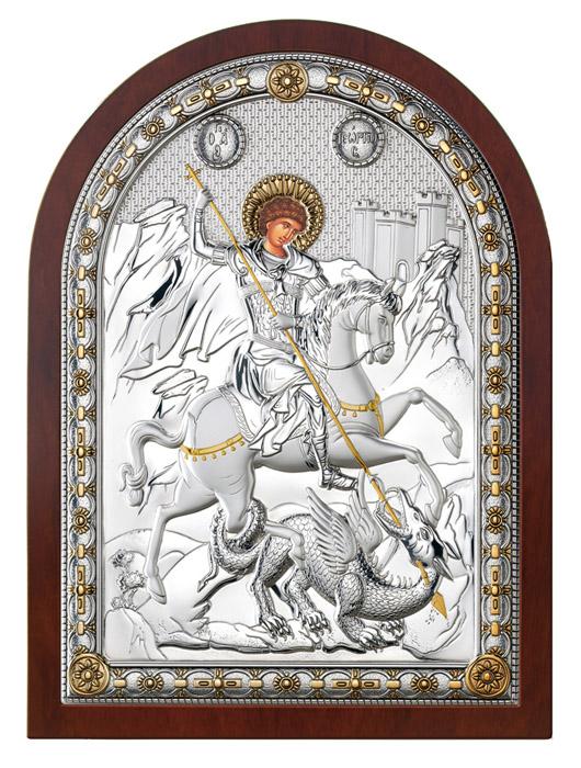 Ασημένια εικόνα 925 -'γιος Γεώργιος- 019670 019670 Ασήμι προτάσεις δώρου ασημένιες εικόνες