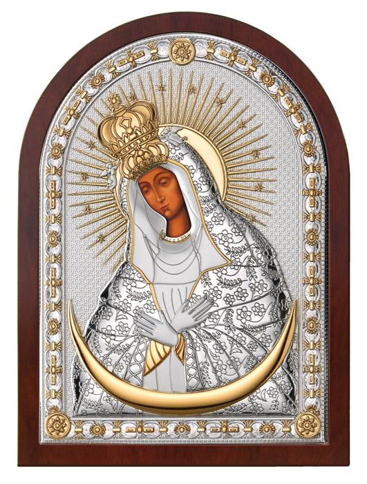 Ασημένια εικόνα 925 -Παναγία των αστέρων- 019658 019658 Ασήμι