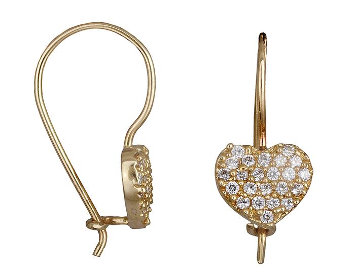 Χρυσά σκουλαρίκια Κ14 002242 002242 Χρυσός 14 Καράτια χρυσά κοσμήματα σκουλαρίκια καρφωτά