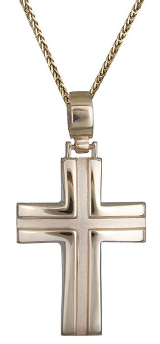 Βαπτιστικοί Σταυροί με Αλυσίδα Ανδρικός σταυρός από χρυσό 9Κ C012484 012484C Ανδρικό Χρυσός 9 Καράτια