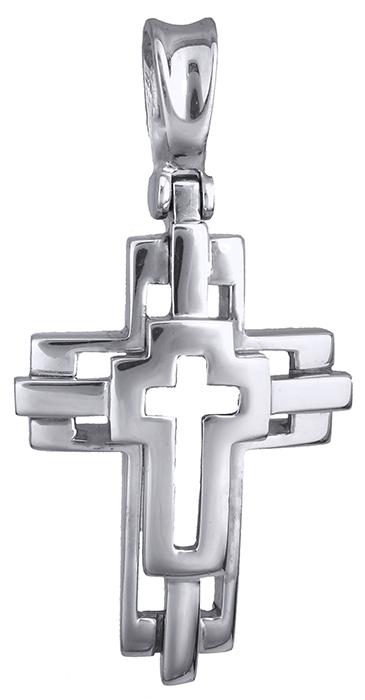Σταυροί Βάπτισης - Αρραβώνα Λευκόχρυσος σταυρός 14 καράτια 002492 002492 Ανδρικό Χρυσός 14 Καράτια