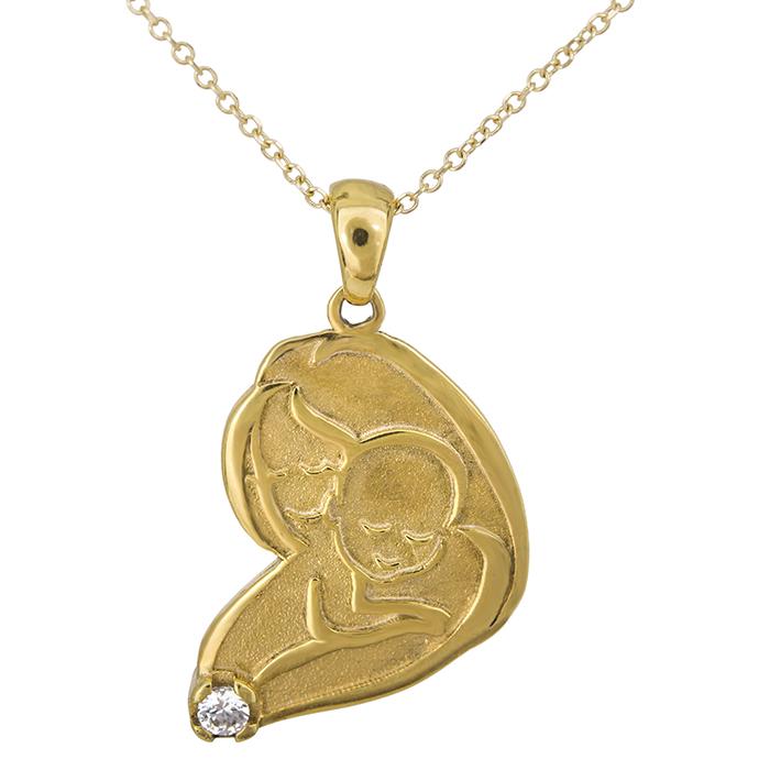 Γυναικείο χρυσό κρεμαστό Κ14 'μαμά και μωρό' 026795 026795 Χρυσός 14 Καράτια