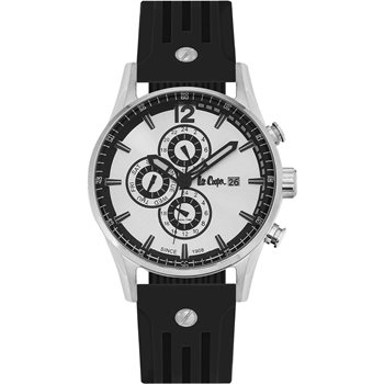 Lee cooper Dual Time Black Rubber strap LC06419.331 LC06419.331