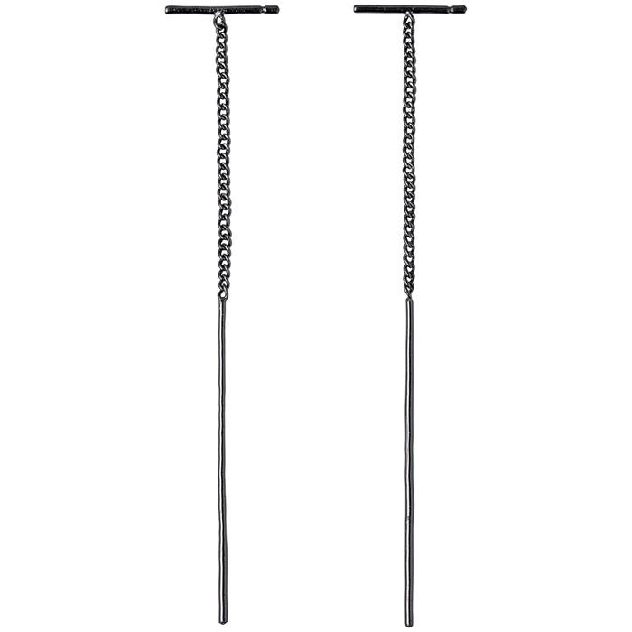 Μαύρα σκουλαρίκια κρεμαστά pirlgrim 261633083 261633083 Ορείχαλκος fashion jewels pilgrim σκουλαρίκια
