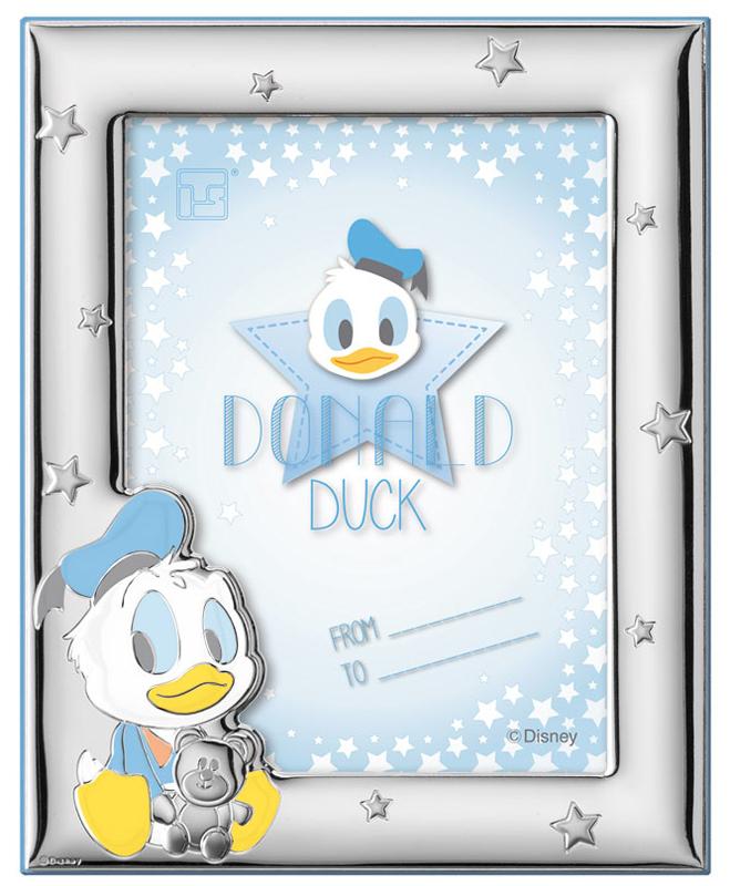 Ασημένια παιδική κορνίζα Donald Duck 022641 022641 Ασήμι προτάσεις δώρου ασημένιες κορνίζες