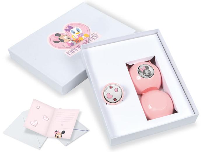 Σετ πιπιλοπιάστρα με ροζ θήκη Minnie 019856 019856 προτάσεις δώρου βρεφικά αξεσουάρ