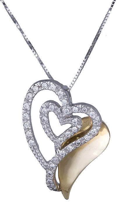 Κολιέ με καρδιά Κ14 000610 000610 Χρυσός 14 Καράτια χρυσά κοσμήματα καρδιές