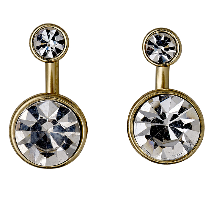 Σκουλαρίκια διπλά με πέτρες Pilgrim 611532023 611532023 Ορείχαλκος fashion jewels pilgrim σκουλαρίκια