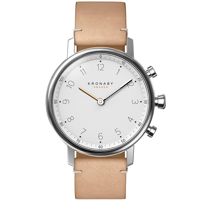 Kronaby Sweden connected Nord Beige leather strap A1000-0712 A1000-0712 Ατσάλι
