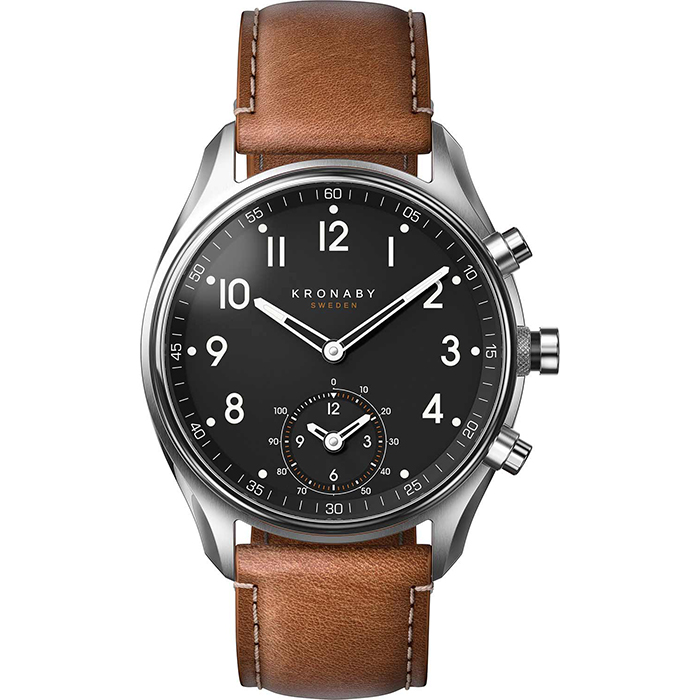 Kronaby Sweden connected Apex Brown leather strap A1000-0729 A1000-0729 Ατσάλι
