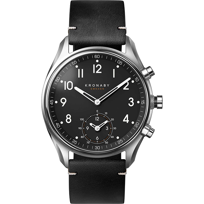 Kronaby Sweden connected Apex Black leather strap A1000-1399 A1000-1399 Ατσάλι