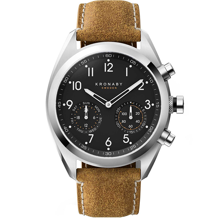 Kronaby Sweden connected Apex leather strap A1000-3112 A1000-3112 Ατσάλι