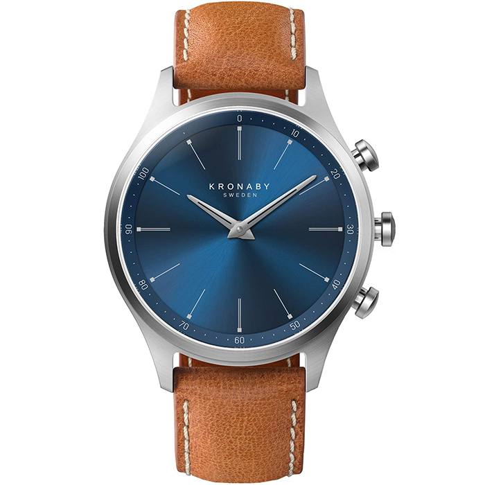 Kronaby Sweden connected Sekel Leather strap A1000-3124 A1000-3124 Ατσάλι