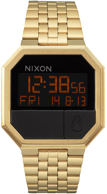 Ρολόι χειρός Nixon Digital Re Run Gold Bracelet A158-502 A158-502 Ατσάλι