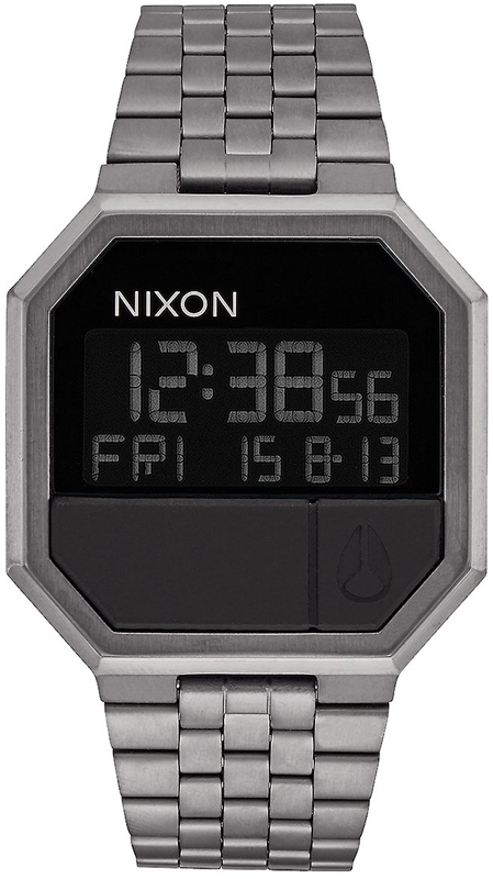 Ρολόι Nixon Digital Re Run Gunmetal A158-632 A158-632 Ατσάλι