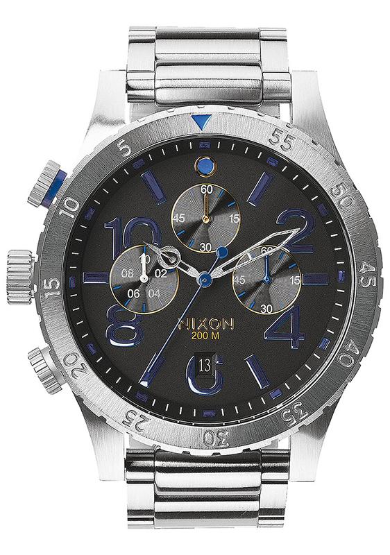 Ρολόι αντρικό Nixon 48 -20 Chrono Steel Bracelet A486-1529-00 A486-1529-00 Ατσάλι
