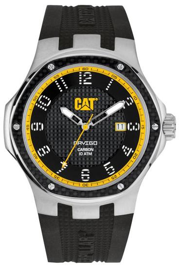 Caterpillar ανδρικό ρολόι A514121111 A514121111 Ατσάλι