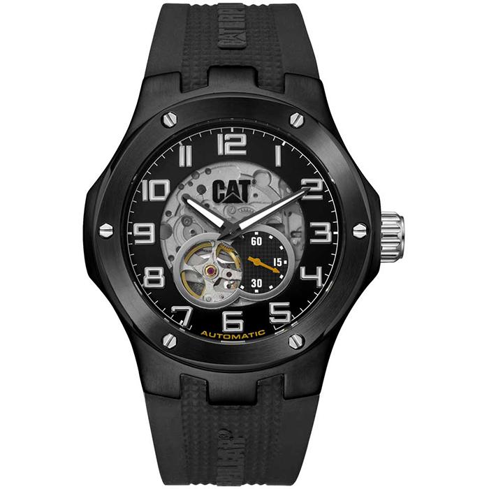 Ρολόι Caterpillar Automatic Black Rubber Strap A816821116 A816821116 Ατσάλι