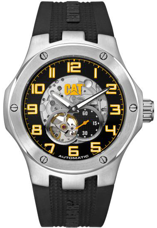 Caterpillar Navigo Automatic Black Rubber Strap A814821111 A814821111 Ατσάλι ρολόγια caterpillar