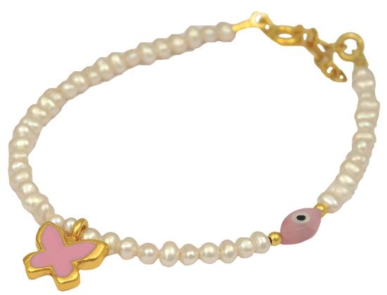 Επίχρυσο ασημένιο βραχιόλι 925 ASB031-3 Ασήμι ασημένια κοσμήματα βραχιόλια