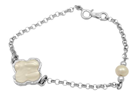 Ασημένιο βραχιόλι 925 ASB185-1 Ασήμι ασημένια κοσμήματα βραχιόλια
