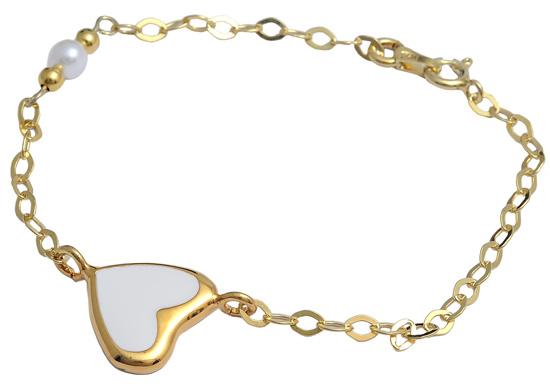Βραχιόλι ασημένιο επίχρυσο 925 ASB187 Ασήμι ασημένια κοσμήματα βραχιόλια
