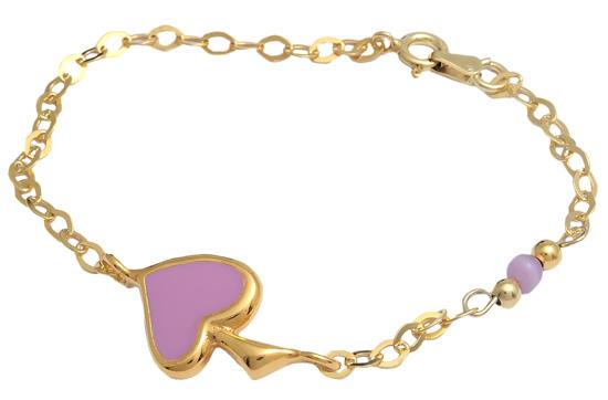 Επίχρυσο ασημένιο βραχιόλι 925 ASB190 Ασήμι ασημένια κοσμήματα βραχιόλια