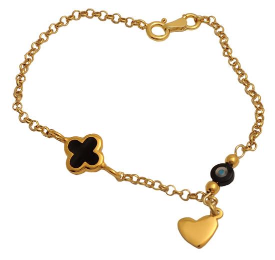 Επίχρυσο ασημένιο βραχιόλι 925 ASB202 Ασήμι ασημένια κοσμήματα βραχιόλια