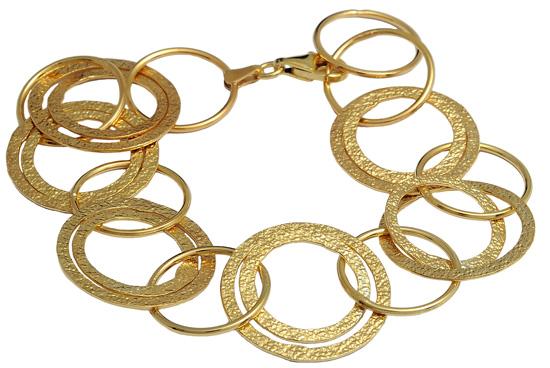 Επίχρυσο ασημένιο βραχιόλι 925 ASB214A Ασήμι ασημένια κοσμήματα βραχιόλια