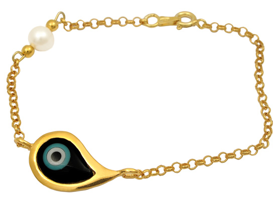 Επίχρυσο ασημένιο βραχιόλι 925 ASB314B Ασήμι ασημένια κοσμήματα βραχιόλια