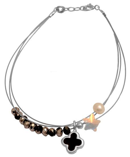 Ασημένιο βραχιόλι 925 ASB450BM Ασήμι ασημένια κοσμήματα βραχιόλια