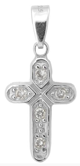 Σταυρός ασημένιος 925 ASC165 Ασήμι ασημένια κοσμήματα σταυροί